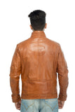 Tan leather jacket men