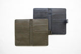 travel wallet navy olive