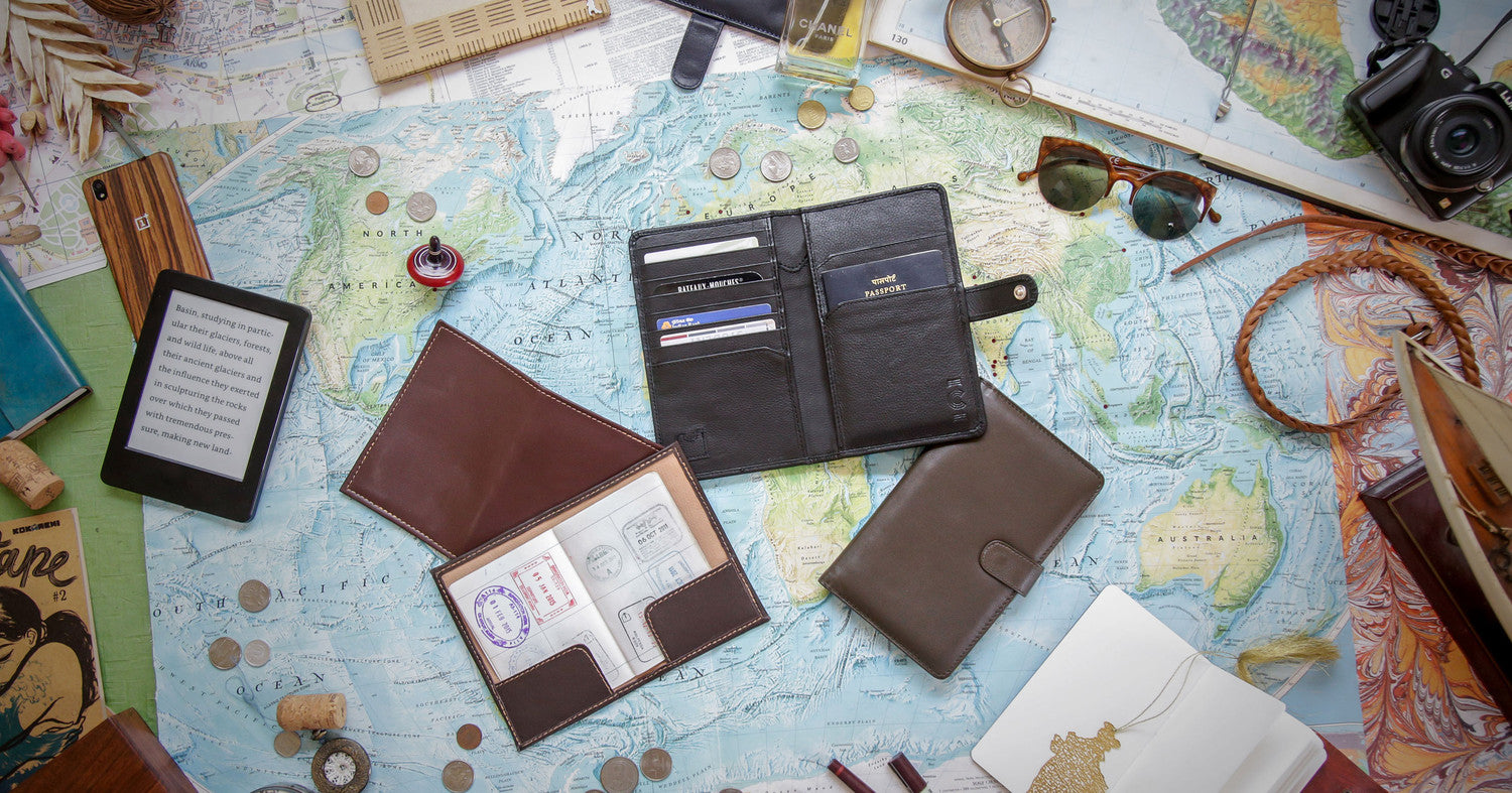 Travel wallets Passport Cases Flatlay