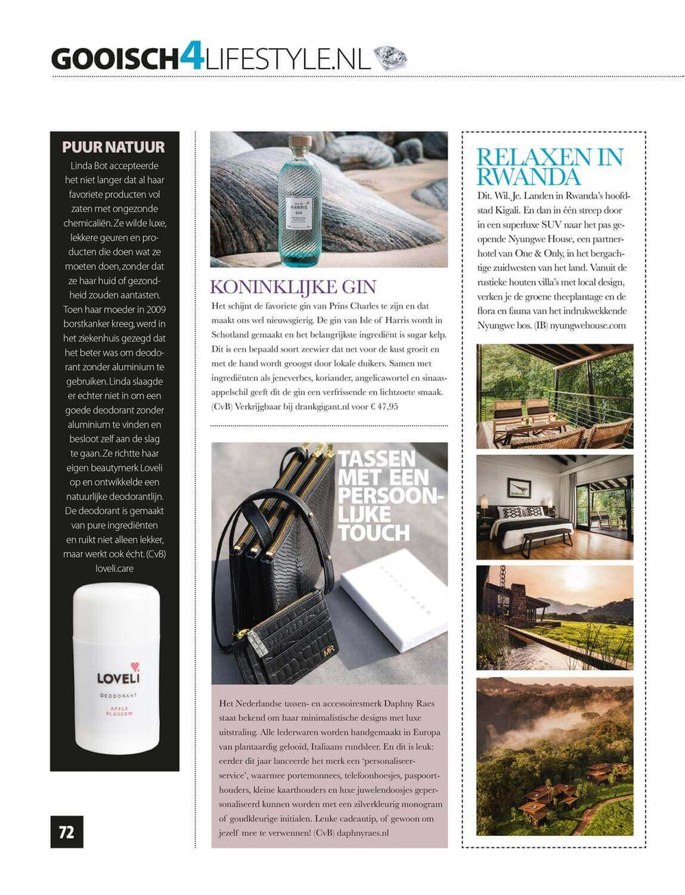 Personalisation of small leather goods by DAPHNY RAES featured in Gooisch Magazine