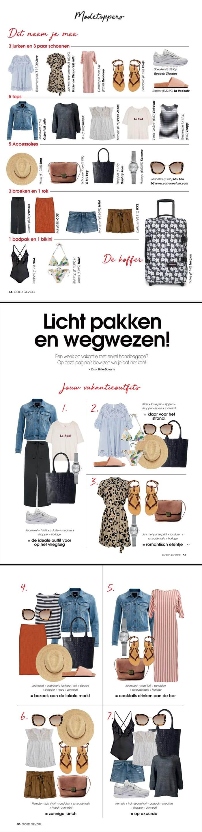Tote bag Isa black crocodile print featured in Goed Gevoel