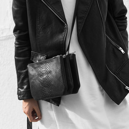 Shop luxury leather trio cross body bags DAPHNY RAES