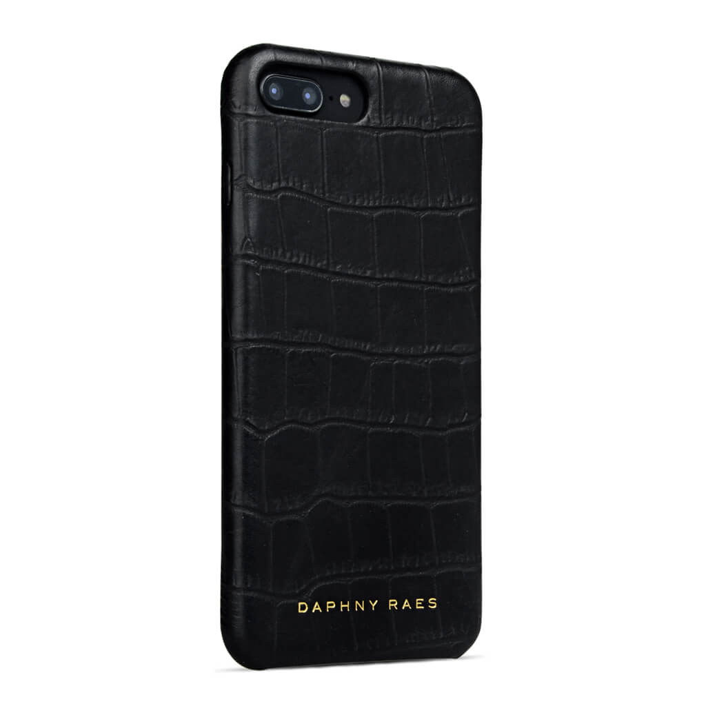 iPhone 7+ case 'Chloë' black croco