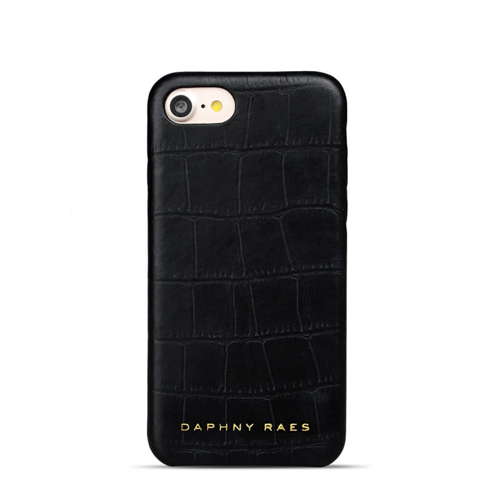 iPhone 8 / 7 case 'Chloë' black croco