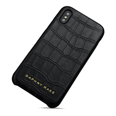 Luxury leather iphone X(s) case with crocodile print DAPHNY RAES