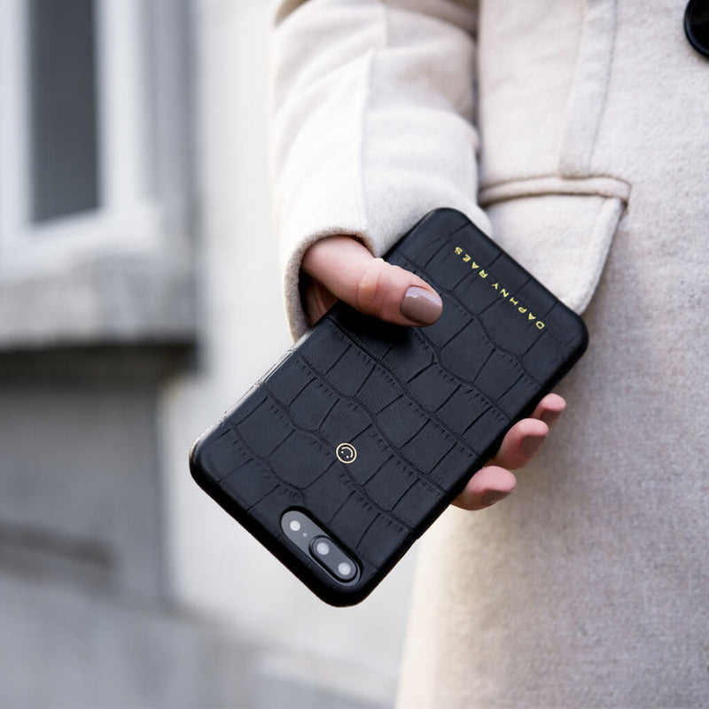 iPhone 8+ / 7+ case 'Chloë' black croco