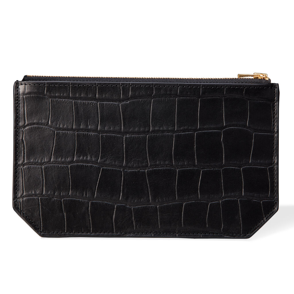Sample Pouch 'Lisa' black croco