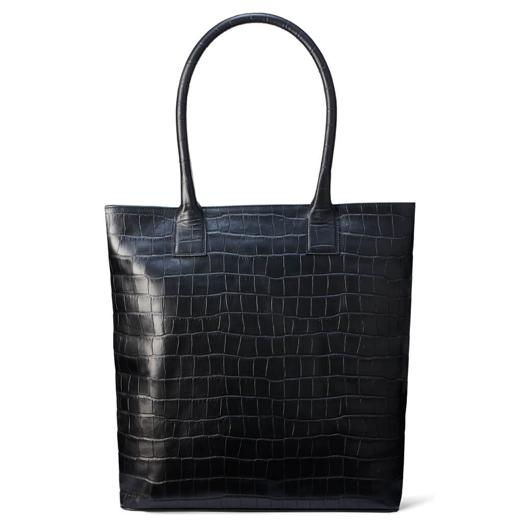 Tote bag 'Isa' black croco