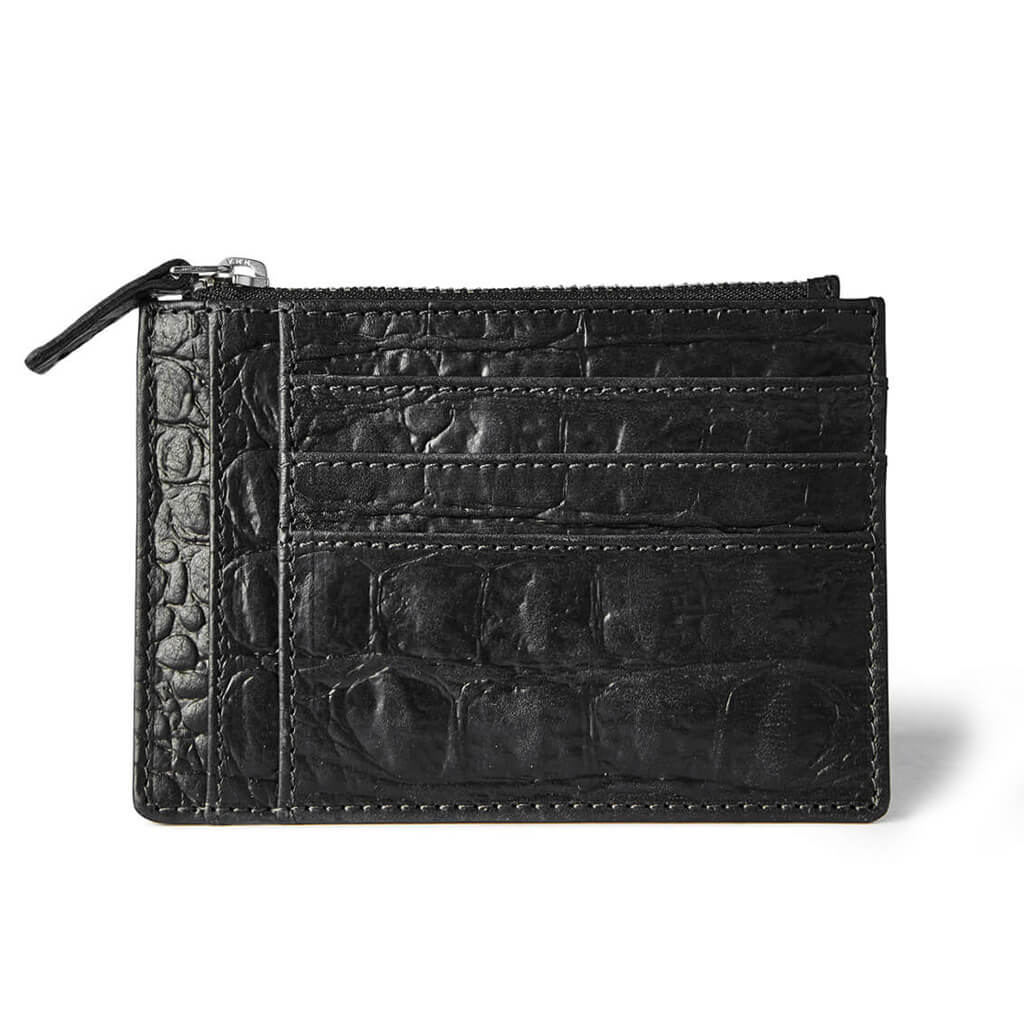 Wallet 'Jack' black croco | silver