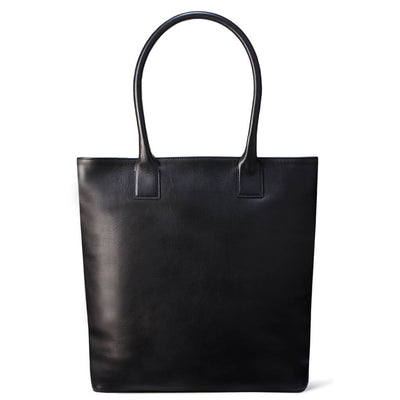 Black leather laptop carry-all DAPHNY RAES