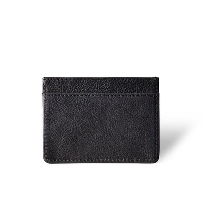 slim women's black vegetable tanned leather credit card holder DAPHNY RAES