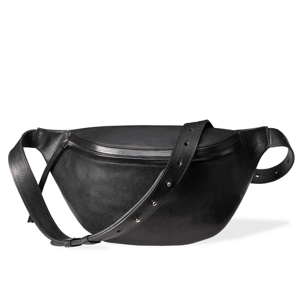 Fanny pack 'Niki' large black | silver
