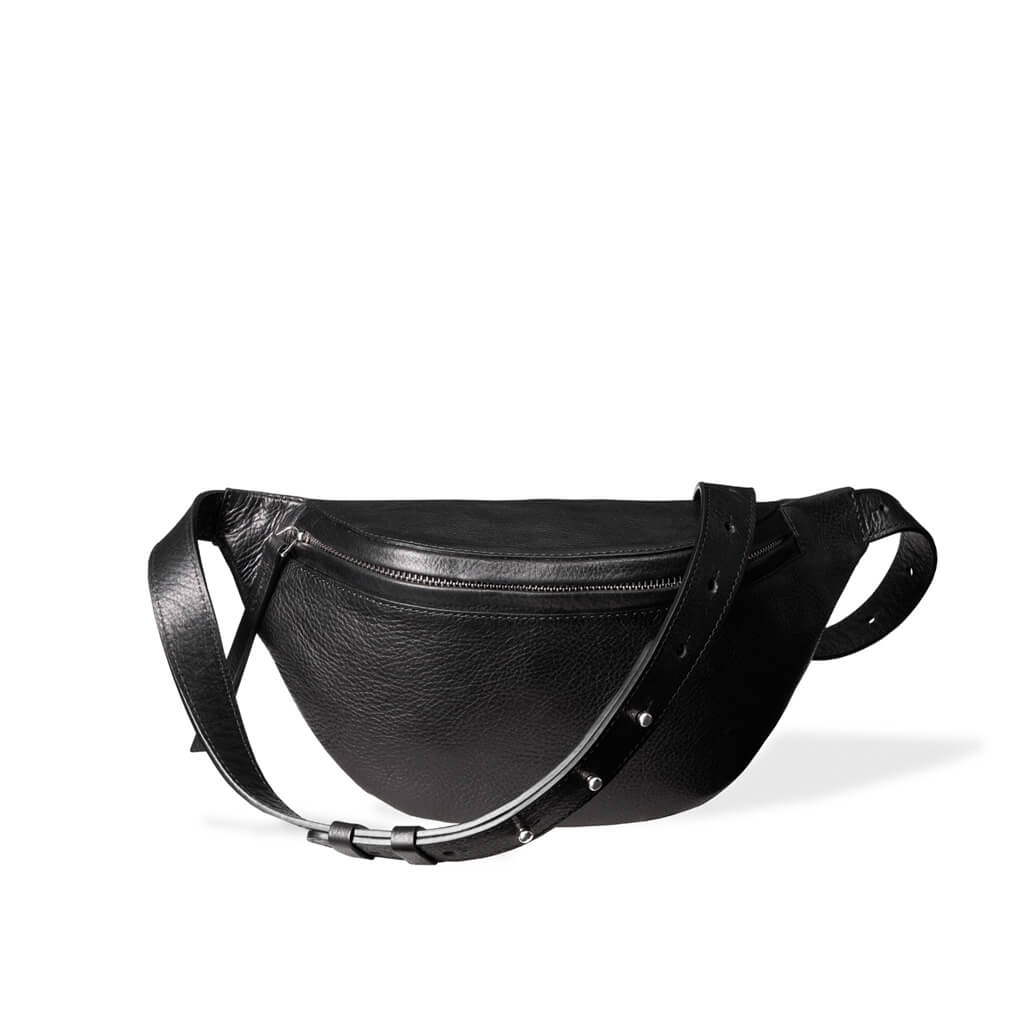 Fanny pack 'Niki' small black | silver