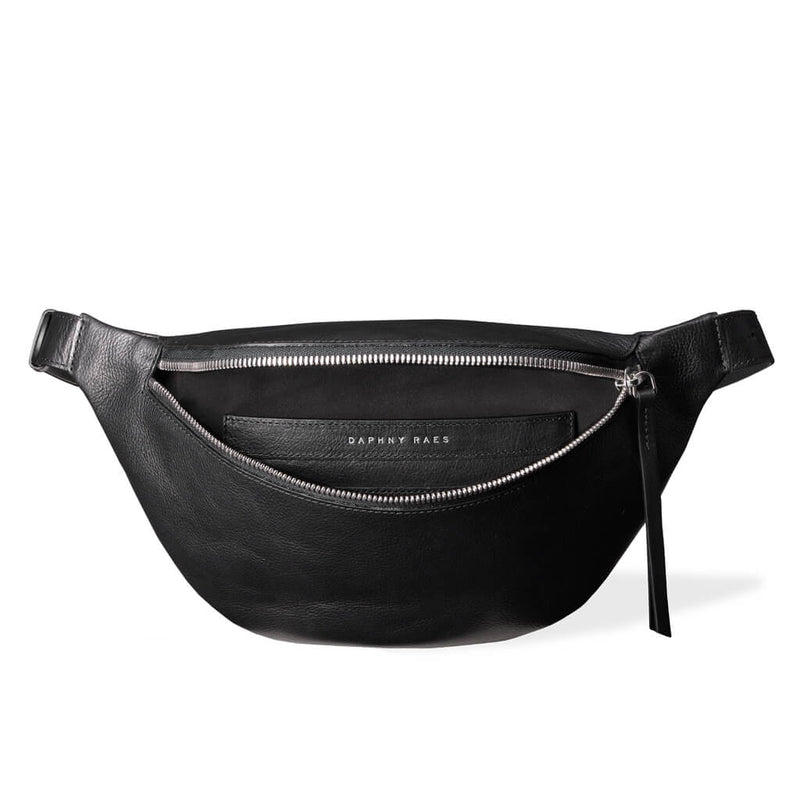 Fanny pack 'Alex' large black | silver