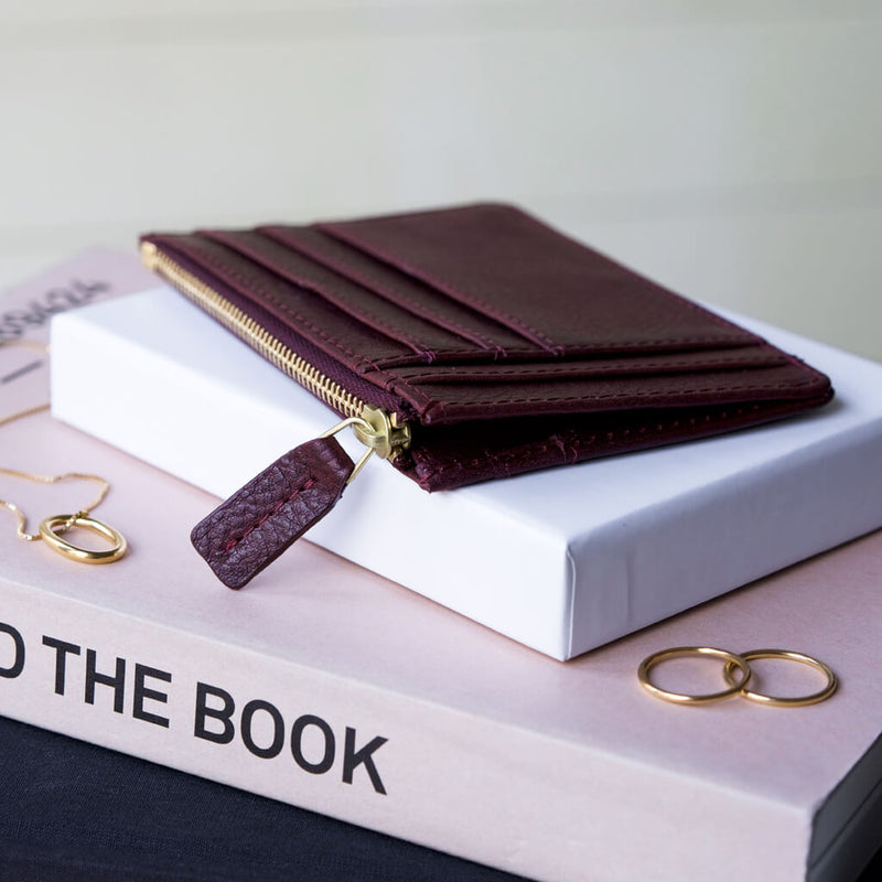 Wallet 'Jack' burgundy | gold