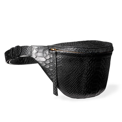 Small fanny pack vegetable tanned python print leather DAPHNY RAES