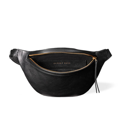 Soft lining in black leather women's fanny pack DAPHNY RAES