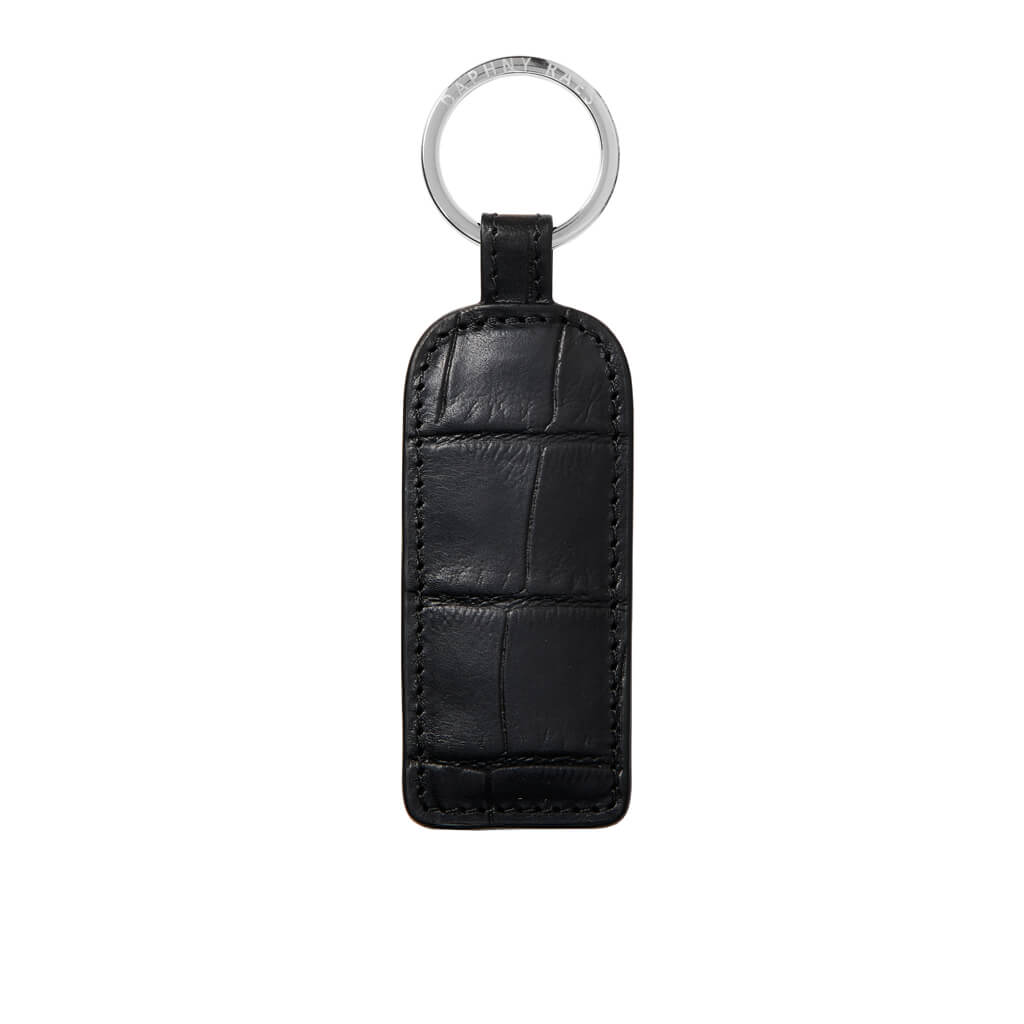 Keychain 'Kate' black croco