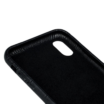 iPhone Xs Max case 'Chloë' black croco
