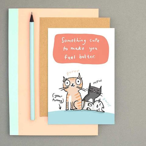 cat get well card