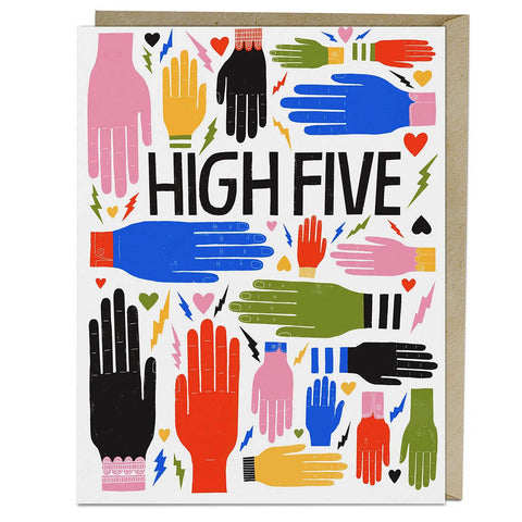high five card congratulations