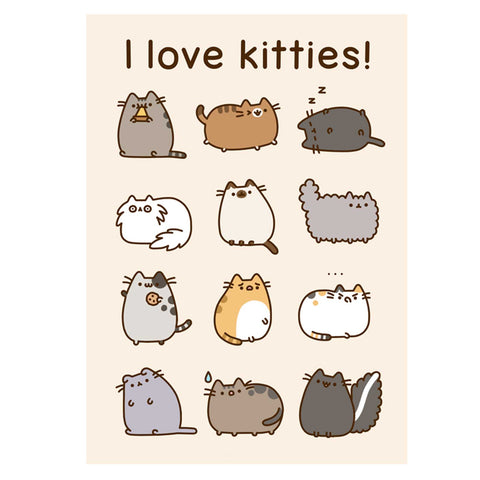 Pusheen Card - I Love Kitties