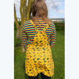 Dinosaur Pinafore - Corduroy Dress - Mustard