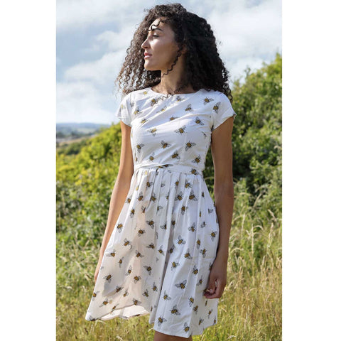 run & fly leeds bee dress