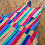 Rainbow Stripe Pinafore - Cotton Twill