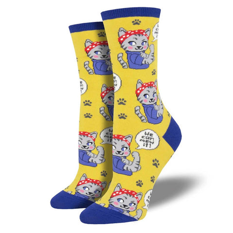 ladies ankle socks cat