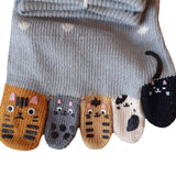 Ladies Japanese Socks - Cat Toe Socks