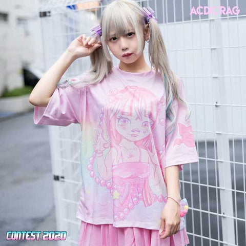 pink kawaii t-shirt