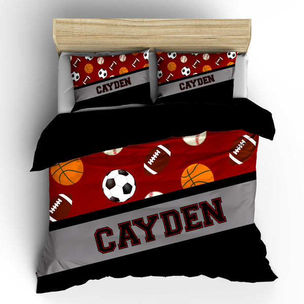 All Sports Four Ball Bedding Set, Comforter or Duvet