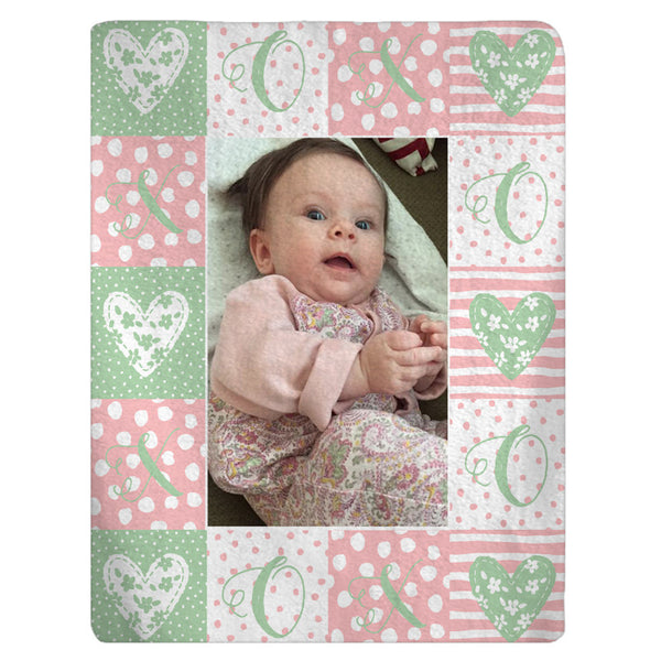 Hearts Photo Fleece Blanket