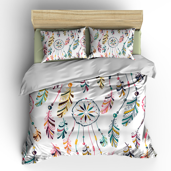 Dreams Catcher White Bedding Set, Duvet or Comforter