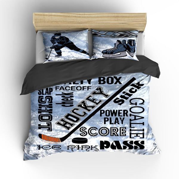 Hockey Theme Bedding Set, Duvet or Comforter
