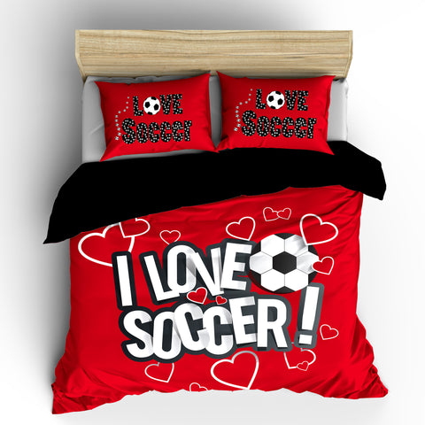 I Love Soccer Bedding