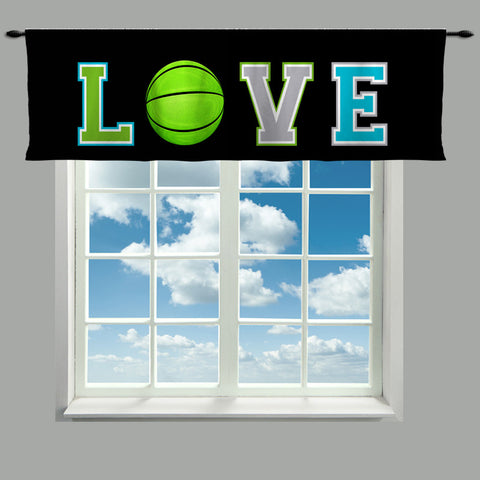 Love Basketball Theme Valance