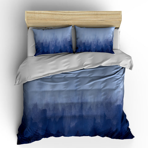 Navy Blue Watercolor Bedding