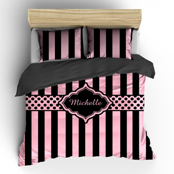 Black Simply Stripes Bedding
