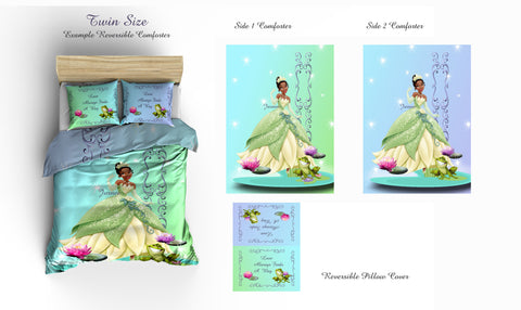 Princess and the Frog Inspired Bedding, REVERSIBLE