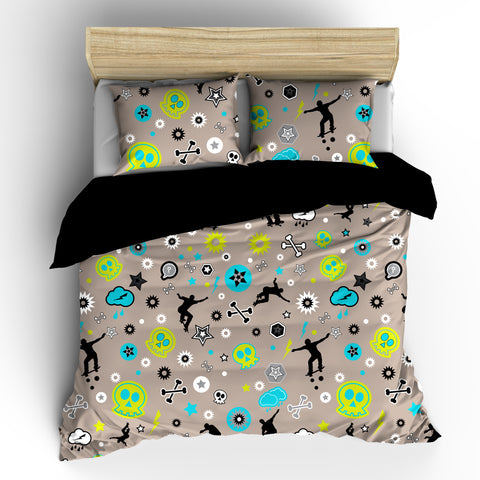 Skateboard Mix Designer Bedding