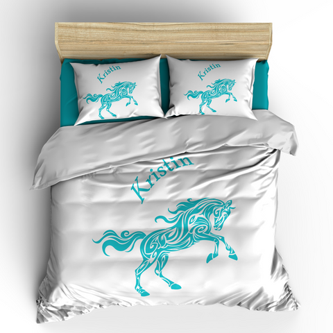 Horse Tattoo Tribal Theme Bedding