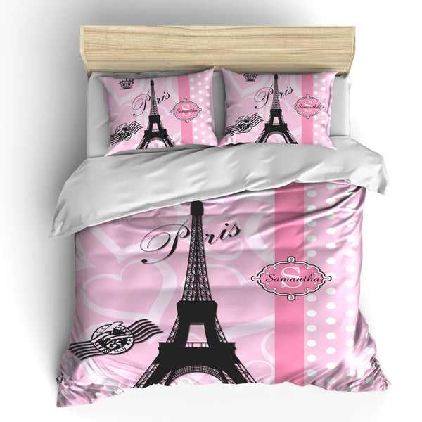 Vintage Paris Post Card Designer Bedding