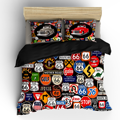 Vintage Road Signs Bedding Set