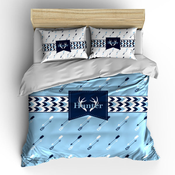 Antler and Arrows and Chevron Bedding Set, Duvet or Comforter