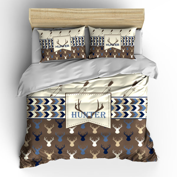Deer Head and Antler Bedding Set, Duvet or Comforter