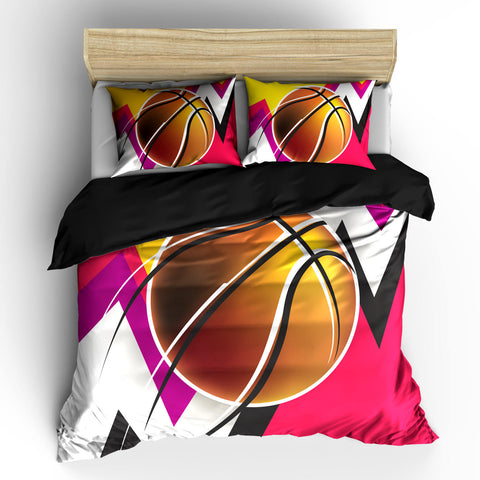 Abstract Girls Mod Basketball Duvet or Comforter Set