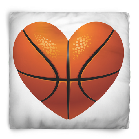 Heart Basketball Theme Pillows
