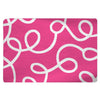 Plush Fuzzy Area Rug with Swirls